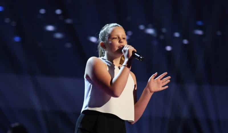 Connie performs.