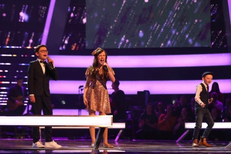 Colin, Gracie-Jayne and Caillin Joe perform.