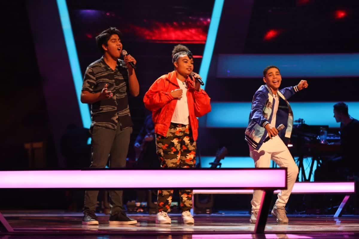 Adi, Aisha and Amaree perform.