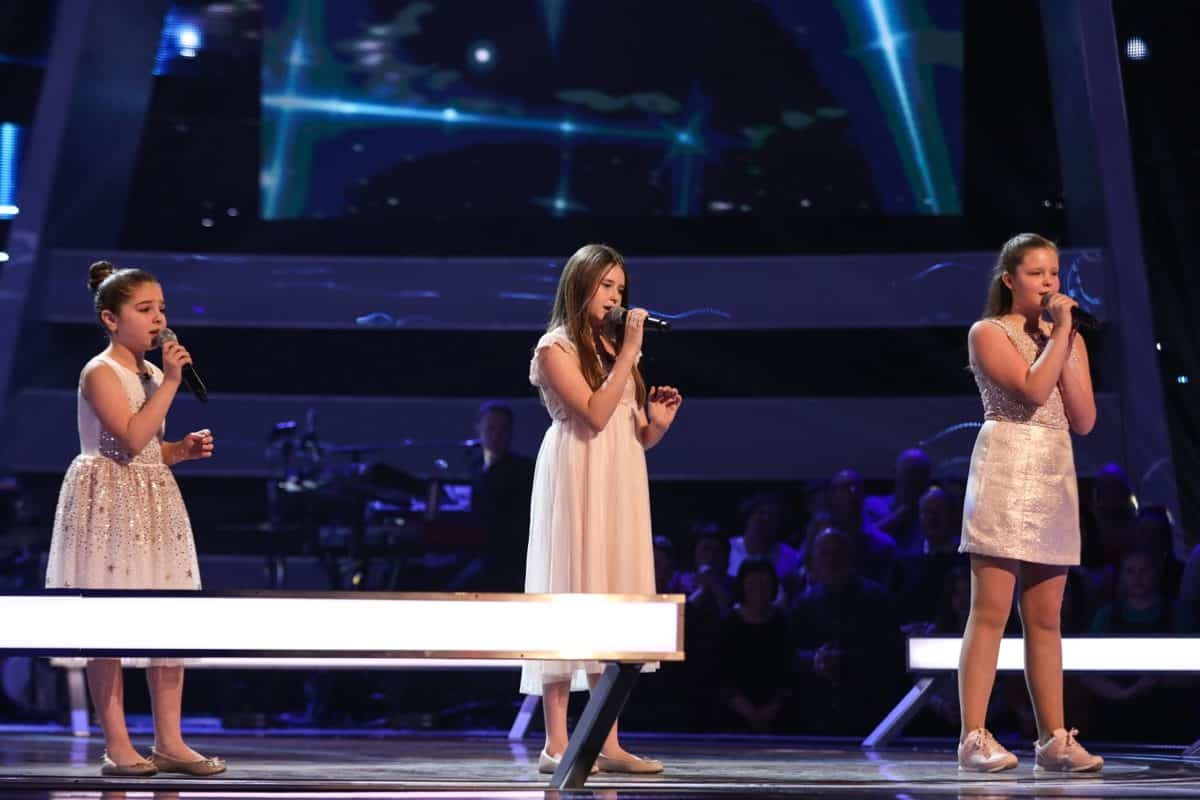 Keira, Jazzy B and Connie perform.