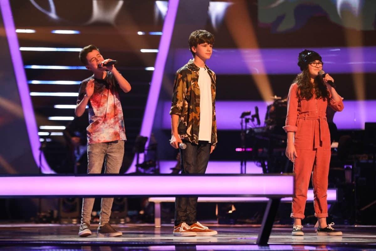 Team Danny: Ryan, Sam and Ivy perform.