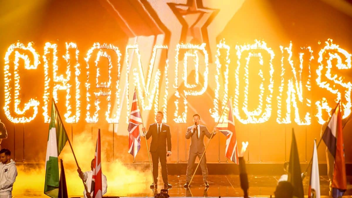 Britain's Got Talent: The Champions contestants line up for the grand final