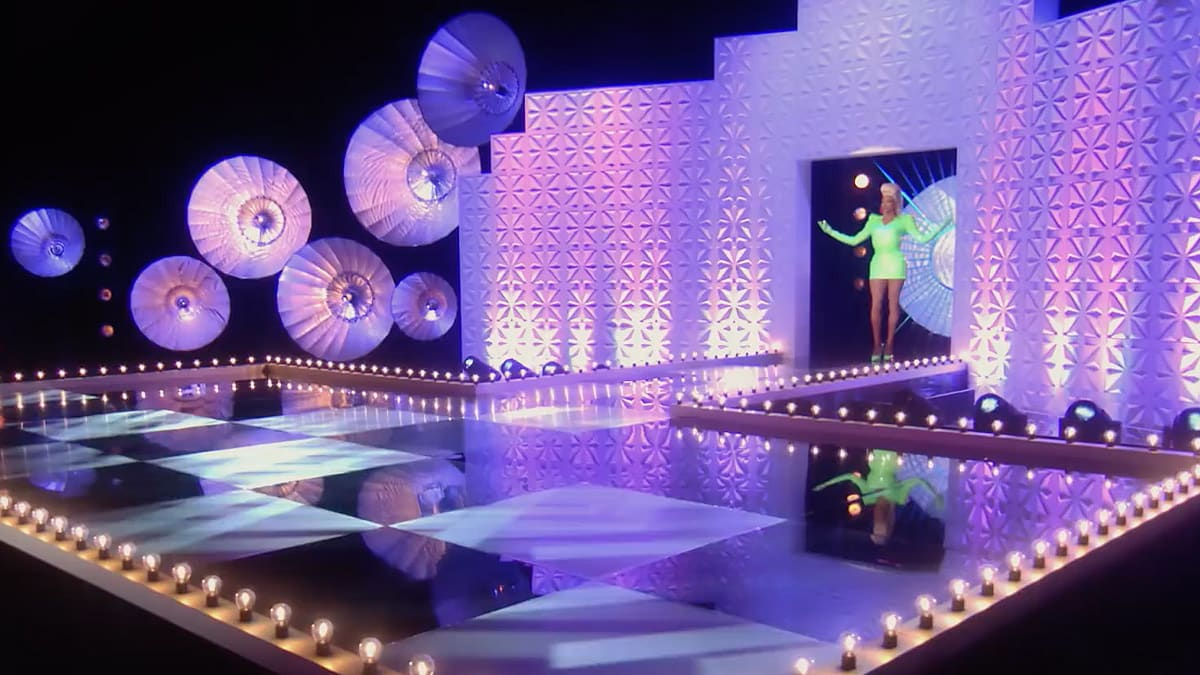 The main stage of RuPaul's Drag Race UK
